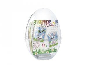 Pixelhobby Húsvéti tojás, nyuszik (29705, 2db kulcstartó alaplap + 6 szín, 6-99 év)