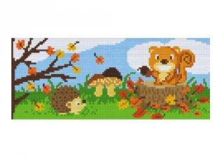 Pixelhobby képkészlet, állatok ősszel (803025, 3db alaplap + színek, 7-99 év)