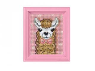 Pixelhobby képkészlet, Alpaka barna (31440, 10x12 cm-es alaplap, színek, képkeret, 7-99 év)