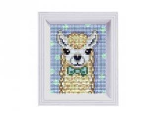 Pixelhobby képkészlet, Alpaka fehér (31441, 10x12 cm-es alaplap, színek, képkeret, 7-99 év)