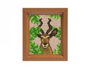 Pixelhobby képkészlet, Antilop (31438, 10x12 cm-es alaplap, színek, képkeret, 7-99 év)