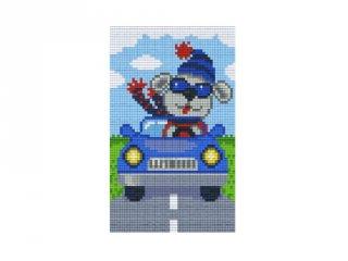 Pixelhobby képkészlet, autózó kutya (802090, 2db alaplap + színek, 7-99 év)