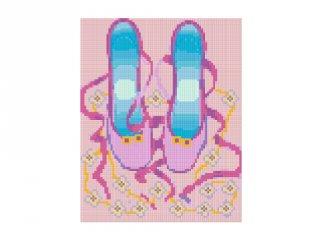 Pixelhobby képkészlet, balettcipellő (804186, 4db alaplap + színek, 7-99 év)