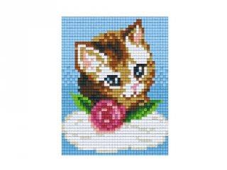 Pixelhobby képkészlet, barna cica (801351, 1db alaplap + színek, 7-99 év)