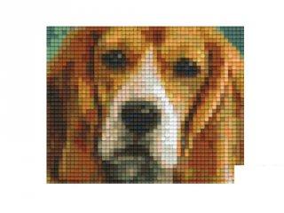 Pixelhobby képkészlet, beagle kutya (801301, 1db alaplap + színek, 7-99 év)