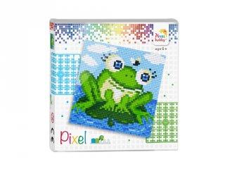 Pixelhobby képkészlet, Béka (44006, 4db 6x6-os alaplap + színek, 7-99 év)