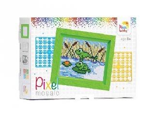 Pixelhobby képkészlet, békák (31246, 10x12 cm-es alaplap, színek, képkeret, 7-99 év)