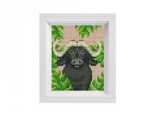 Pixelhobby képkészlet, Bivaly (31439, 10x12 cm-es alaplap, színek, képkeret, 7-99 év)