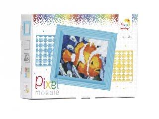 Pixelhobby képkészlet, bohóchal (31157, 10x12 cm-es alaplap, színek, képkeret, 7-99 év)