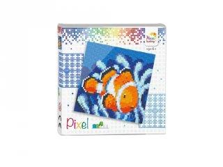 Pixelhobby képkészlet, Bohóchal (44004, 4db 6x6-os alaplap + színek, 7-99 év)