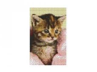 Pixelhobby képkészlet, cica takaróval (802105, 2db alaplap + színek, 7-99 év)