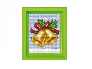 Pixelhobby képkészlet, Csengettyű (31419, 10x12 cm-es alaplap, színek, képkeret, 7-99 év)