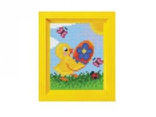 Pixelhobby képkészlet, Csibe (31397, 10x12 cm-es alaplap, színek, képkeret, 7-99 év)