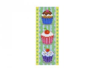 Pixelhobby képkészlet, cupcake-ek (802070, 2db alaplap + színek, 7-99 év)