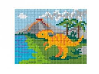 Pixelhobby képkészlet, dínó (801256, 1db alaplap + színek, 7-99 év)