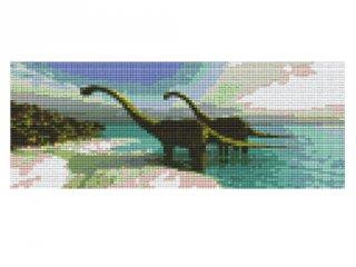Pixelhobby képkészlet, dinoszaurusz (803013, 3db alaplap + színek, 7-99 év)