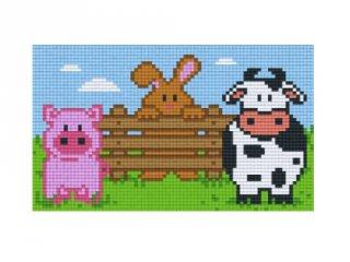 Pixelhobby képkészlet, farm állatai (802062, 2db alaplap + színek, 7-99 év)