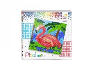 Pixelhobby képkészlet, Flamingó (44014, 4db 6x6-os alaplap + színek, 7-99 év)