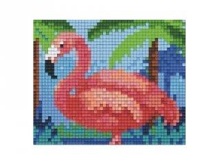 Pixelhobby képkészlet, flamingó (801410, 1db alaplap + színek, 7-99 év)