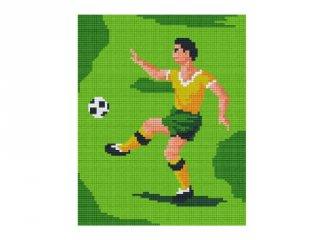Pixelhobby képkészlet, focista (804090, 4db alaplap + színek, 7-99 év)