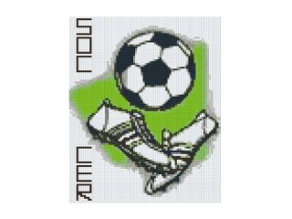 Pixelhobby képkészlet, futball (804089, 4db alaplap + színek, 7-99 év)