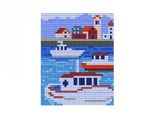 Pixelhobby képkészlet, hajók (801382, 1db alaplap + színek, 7-99 év)