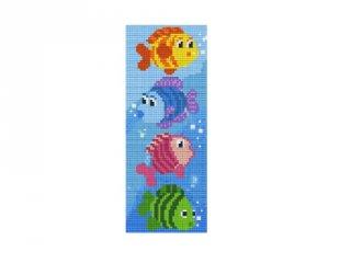 Pixelhobby képkészlet, halacskák (802049, 2db alaplap + színek, 7-99 év)