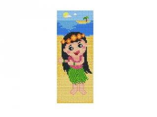 Pixelhobby képkészlet, Hawaii kislány (802071, 2db alaplap + színek, 7-99 év)