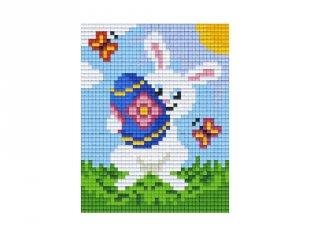 Pixelhobby képkészlet, húsvéti nyuszi (801398, 1db alaplap + színek, 7-99 év)