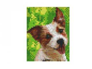 Pixelhobby képkészlet, Jack Russel kutya (801320, 1db alaplap + színek, 7-99 év)