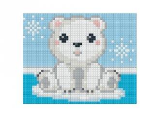 Pixelhobby képkészlet, jegesmaci (801366, 1db alaplap + színek, 7-99 év)