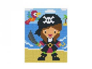 Pixelhobby képkészlet, kalóz (801383, 1db alaplap + színek, 7-99 év)