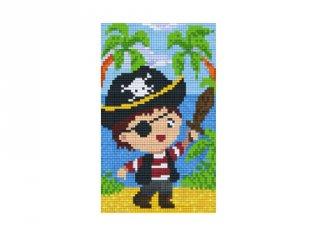 Pixelhobby képkészlet, kalózfiú (802091, 2db alaplap + színek, 7-99 év)