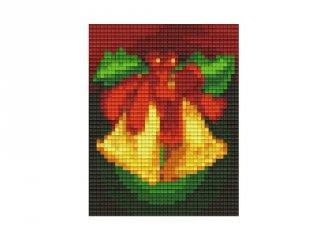 Pixelhobby képkészlet, karácsonyi harang (801416, 1db alaplap + színek, 7-99 év)