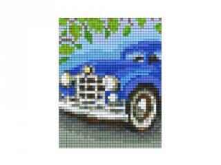 Pixelhobby képkészlet, kék oldtimer (801381, 1db alaplap + színek, 7-99 év)