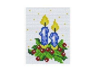 Pixelhobby képkészlet, két gyertya (801104, 1db alaplap + színek, 7-99 év)
