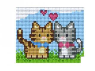 Pixelhobby képkészlet, kiscicák (801372, 1db alaplap + színek, 7-99 év)