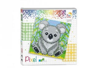 Pixelhobby képkészlet, Koala (44017, 4db 6x6-os alaplap + színek, 7-99 év)
