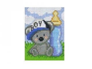 Pixelhobby képkészlet, koala fiú (801401, 1db alaplap + színek, 7-99 év)