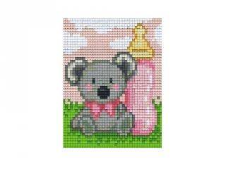 Pixelhobby képkészlet, koala lány (801400, 1db alaplap + színek, 7-99 év)