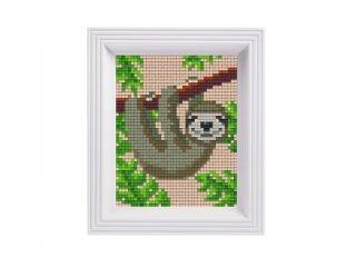 Pixelhobby képkészlet, Lajhár (31433, 10x12 cm-es alaplap, színek, képkeret, 7-99 év)