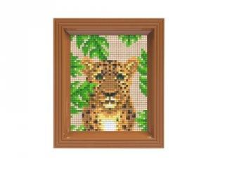Pixelhobby képkészlet, Leopárd (31429, 10x12 cm-es alaplap, színek, képkeret, 7-99 év)