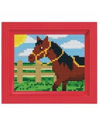 Pixelhobby képkészlet, ló (31250, 10x12 cm-es alaplap, színek, képkeret, 7-99 év)