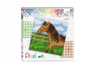 Pixelhobby képkészlet, Ló (44016, 4db 6x6-os alaplap + színek, 7-99 év)