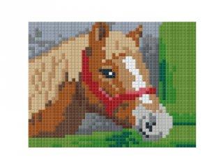Pixelhobby képkészlet, ló a karámban (801360, 1db alaplap + színek, 7-99 év)