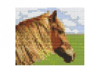 Pixelhobby képkészlet, ló a mezőn (801304, 1db alaplap + színek, 7-99 év)