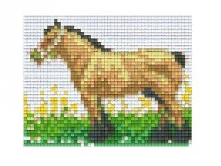 Pixelhobby képkészlet, lovas (801067, 1db alaplap + színek, 7-99 év)