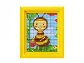 Pixelhobby képkészlet, méhecske (31199, 10x12 cm-es alaplap, színek, képkeret, 7-99 év)