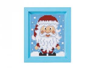 Pixelhobby képkészlet, Mikulás (31420, 10x12 cm-es alaplap, színek, képkeret, 7-99 év)
