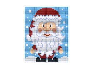 Pixelhobby képkészlet, mikulás (801420, 1db alaplap + színek, 7-99 év)